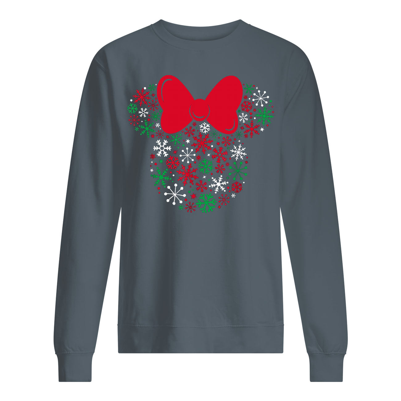 Disney minnie mouse icon holiday snowflakes sweatshirt