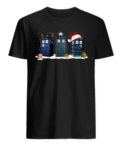 Doctor who tardis police box christmas mens shirt