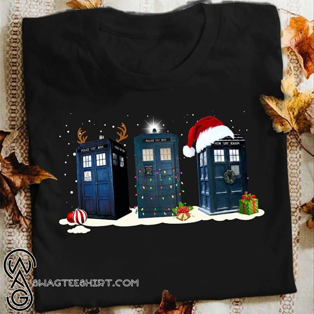 Doctor who tardis police box christmas shirt