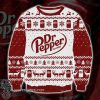 Dr pepper full printing ugly christmas sweater