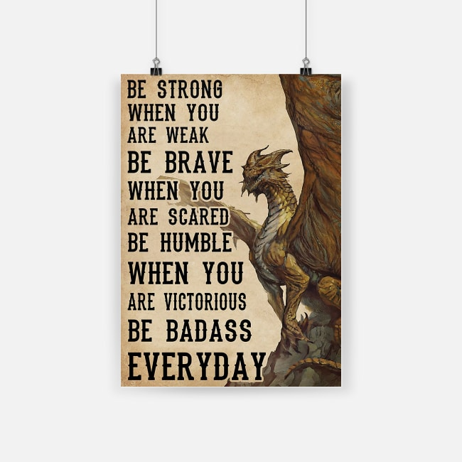 Dungeons and dragons be strong when you are weak poster 3