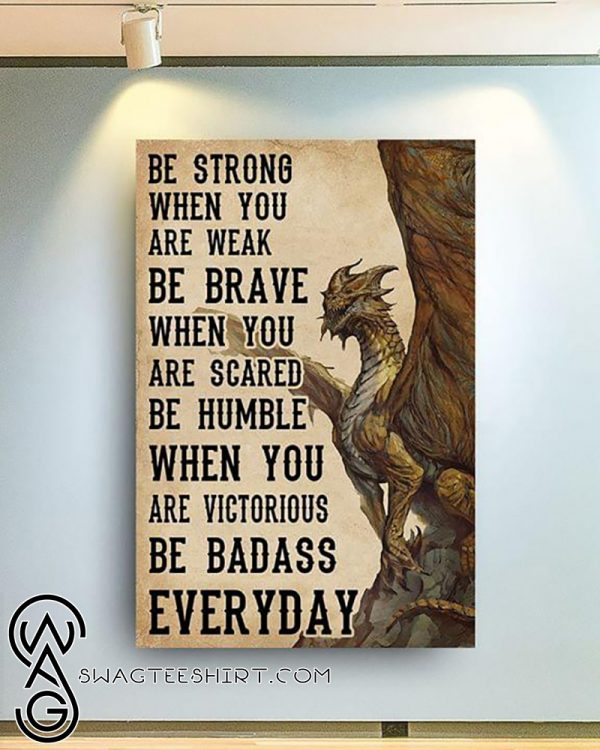Dungeons and dragons be strong when you are weak poster