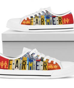 Farmer license plates low top sneakers 5