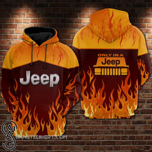 Fire jeep all over printed shirt