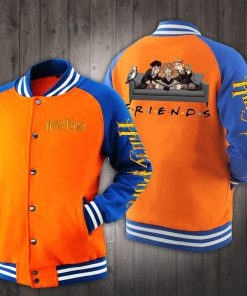 Friend tv show harry potter characters baseball jacket - orange
