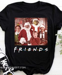 Friends tv show christmas movie characters shirt