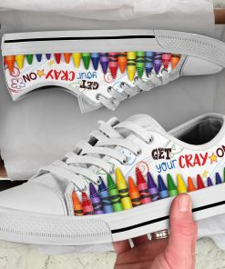 Get your cray on low top sneakers 1