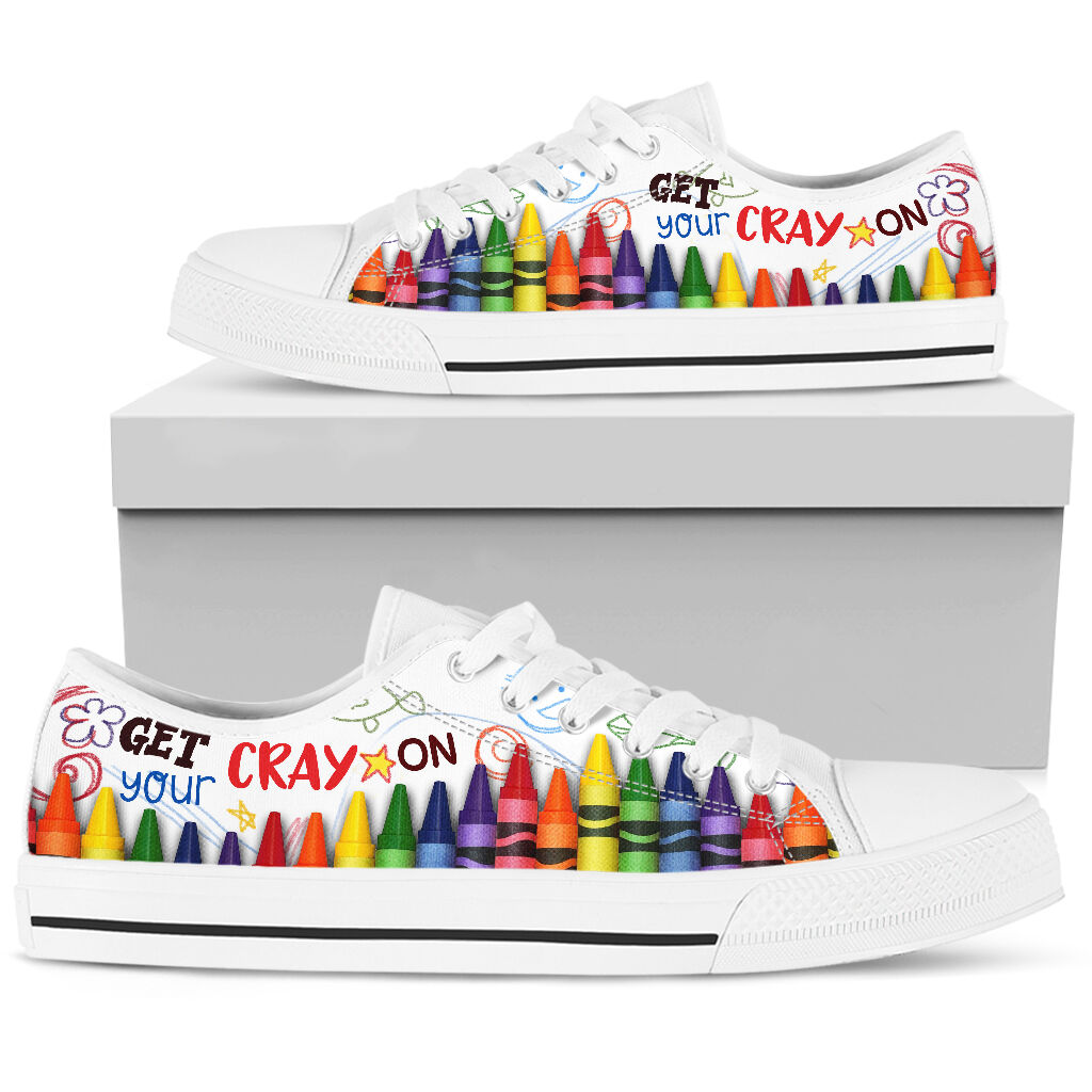Get your cray on low top sneakers 2