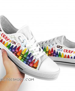 Get your cray on low top sneakers