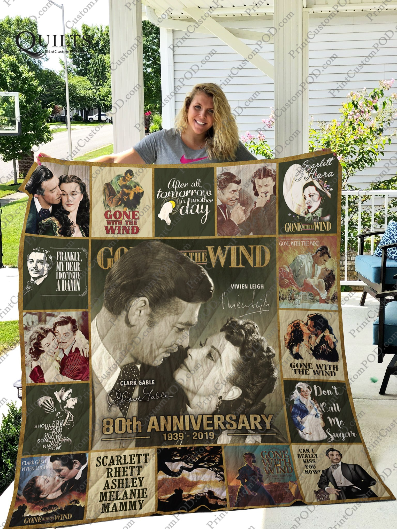 Gone with the wind 80th anniversary quilt 1