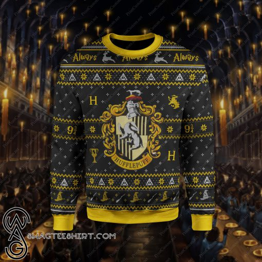 Harry potter hufflepuff ugly christmas sweater