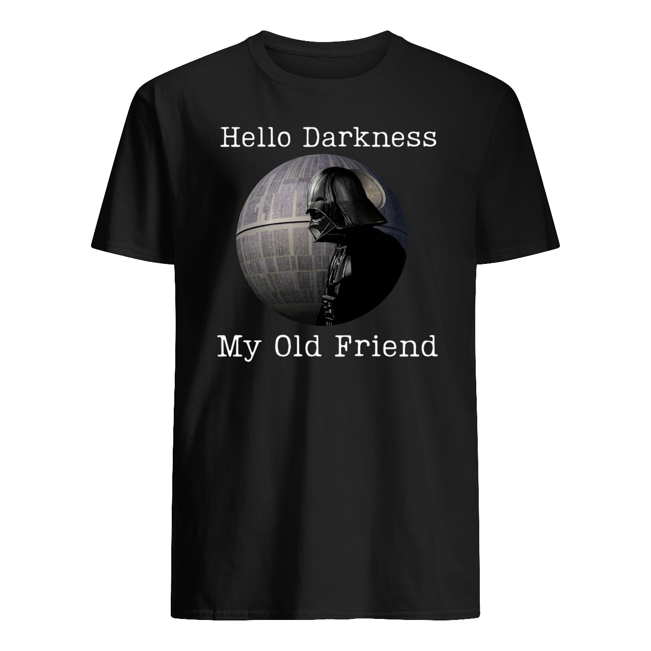 Hello darkness my old friend darth vader mens shirt