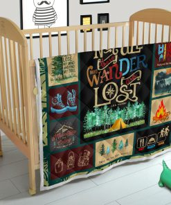 Hiking not all those who wander are lost quilt 2