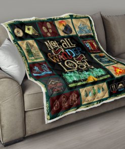 Hiking not all those who wander are lost quilt 3