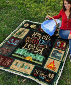 Hiking not all those who wander are lost quilt 6