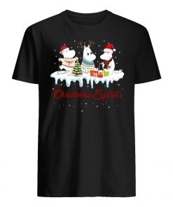 Hippopotamus christmas spirit mens shirt