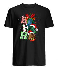 Ho ho ho horses santa christmas mens shirt