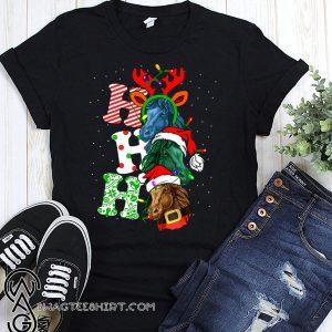 Ho ho ho horses santa christmas shirt