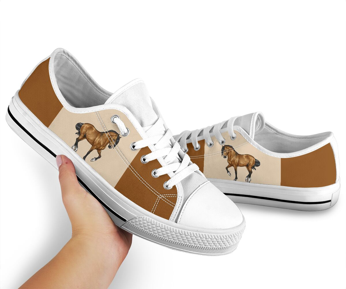 Horse low top canvas sneakers 2
