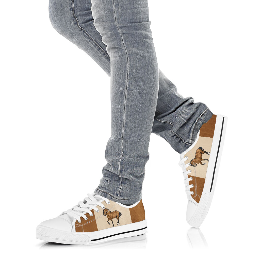 Horse low top canvas sneakers 3