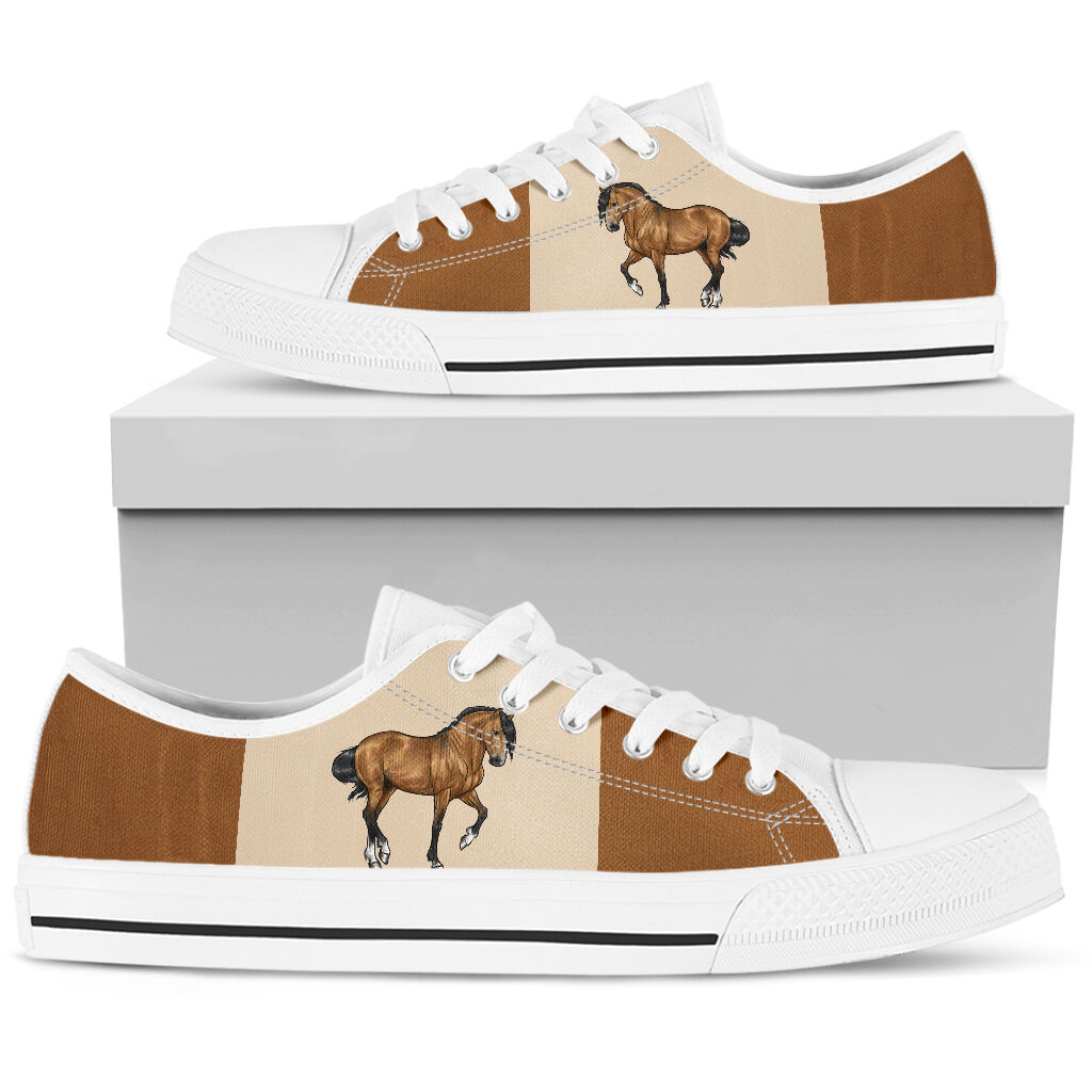 Horse low top canvas sneakers 5