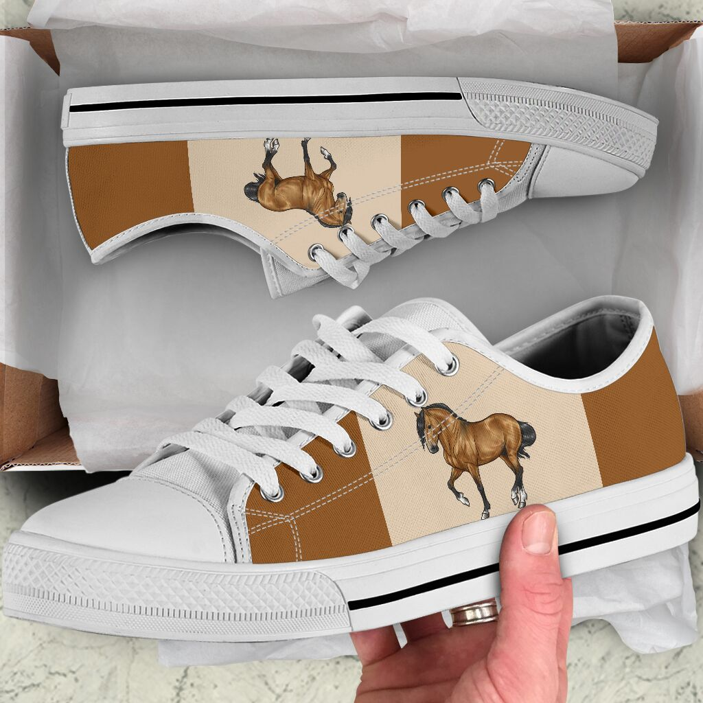 Horse low top canvas sneakers 6
