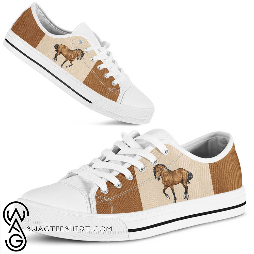 Horse low top canvas sneakers