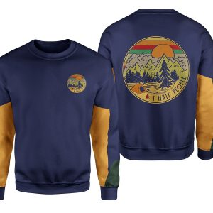 I hate people camping all over print sweatshirt