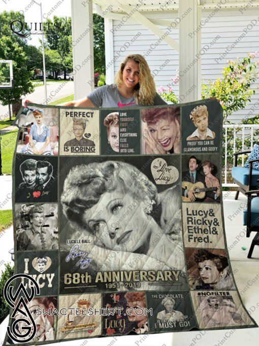 I love lucy 68th anniversary quilt