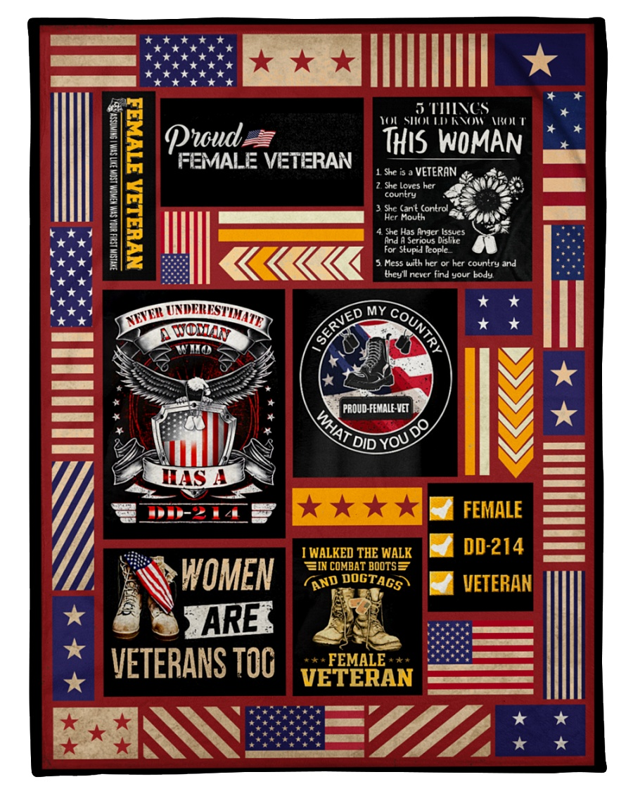 I served my country what did you do proud female veteran fleece blanket 1