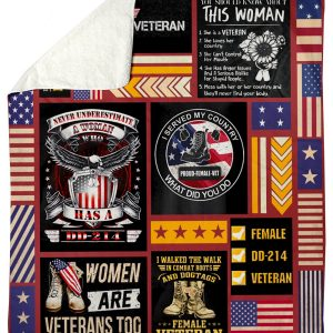 I served my country what did you do proud female veteran fleece blanket 5