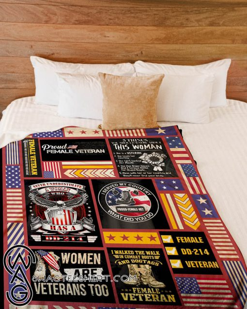 I served my country what did you do proud female veteran fleece blanket