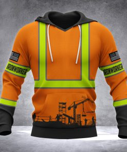 Ironworker all over printed hoodie 1