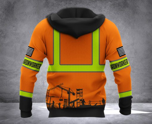 Ironworker all over printed hoodie 2