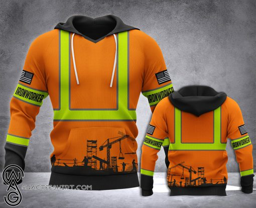 Ironworker all over printed hoodie