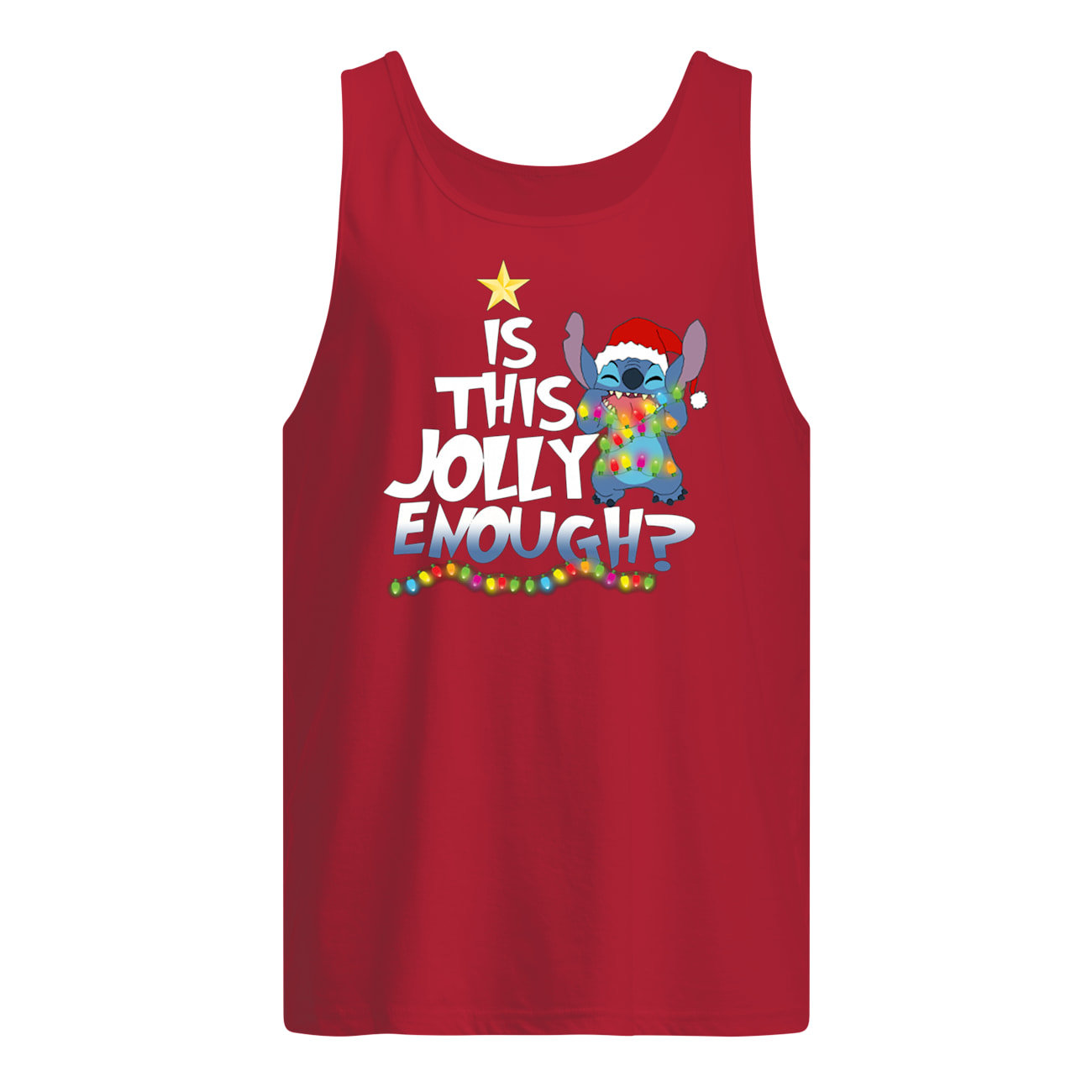 Is this jolly enough stitch christmas light tank top