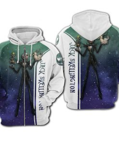 Jack skellington galaxy all over printed zip hoodie 1