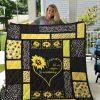 Jesus it's not religion it's a relationship sunflower quilt