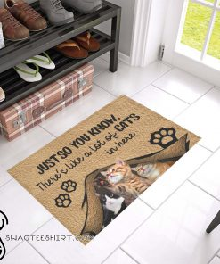 Just so you know there's like a lot of cats in here doormat