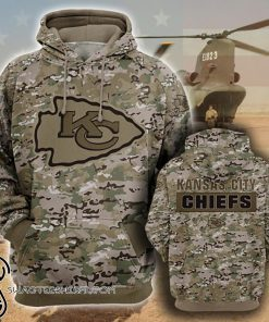 Kansas city chiefs camo style all over print hoodie