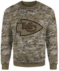 Kansas city chiefs camo style all over print sweatshirt