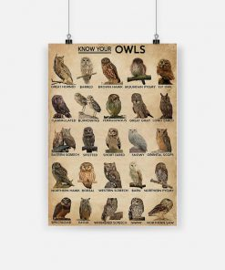 Know your owls poster 4