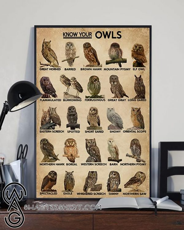 Know your owls poster