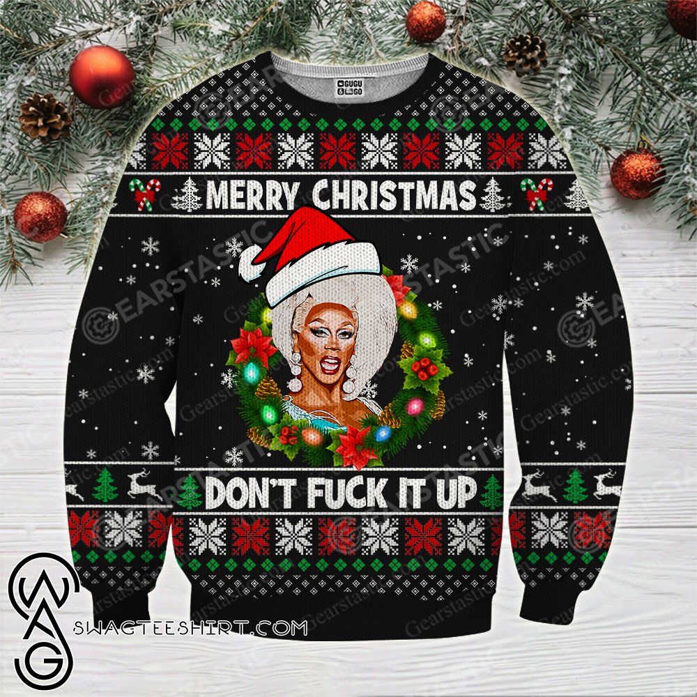 Merry christmas don't fuck it up rupaul's drag race ugly christmas sweater