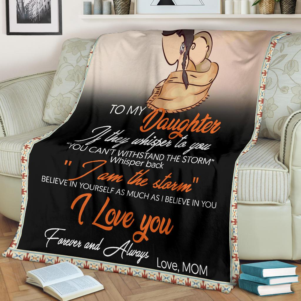 Native american to my daughter i love you blanket 1