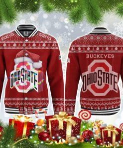 Ohio state buckeyes all over print ugly christmas jacket