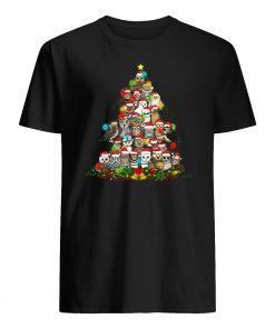 Owl christmas tree mens shirt