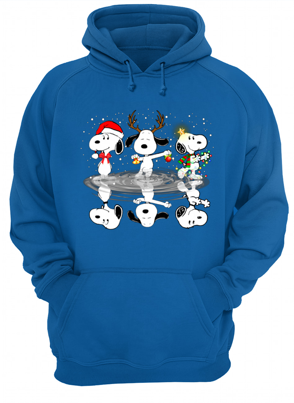 Peanuts snoopy water reflection mirror christmas hoodie