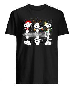 Peanuts snoopy water reflection mirror christmas mens shirt