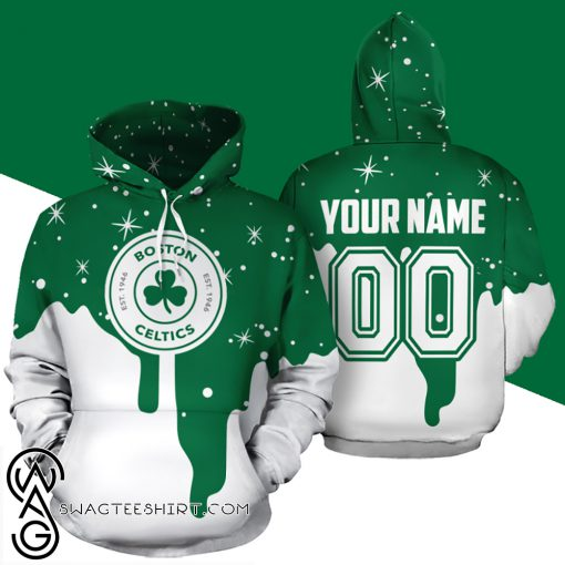 Personalized name and number boston celtics all over print shirt